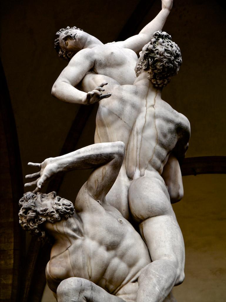 Giambologna, Raub der Sabinerin, in der Loggia dei Lanzi in Florenz.