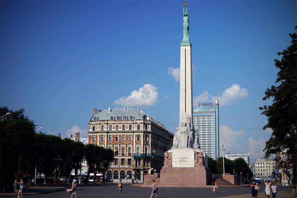 Das Freiheitsdenkmal in Riga der Hauptstadt Lettlands