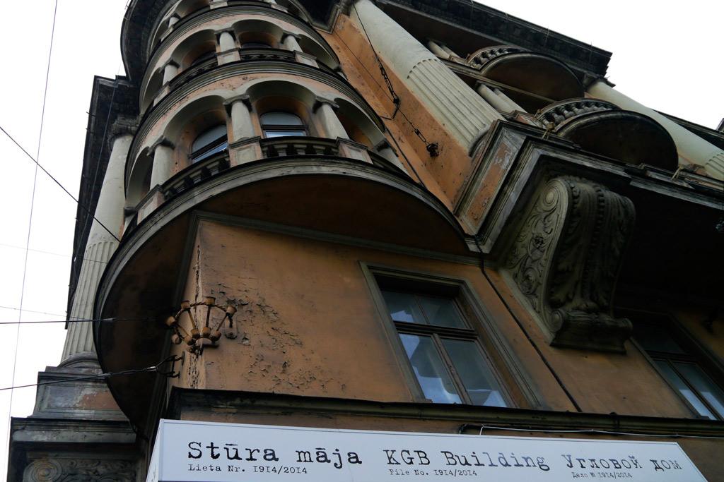 Das KGB-Haus in Riga, Lettland von Außen