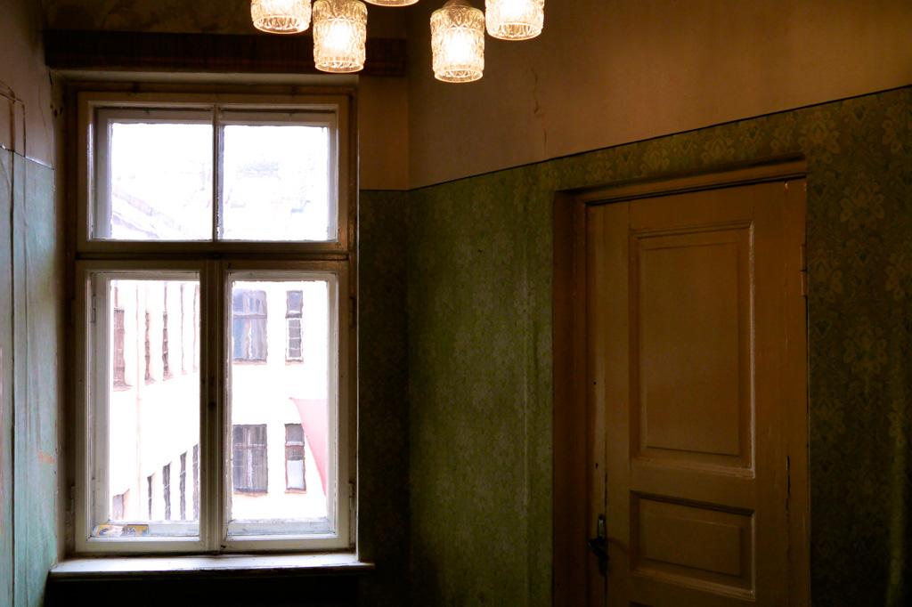 Flur im KGB Haus in Riga, Lettland
