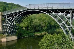 Ironbridge Gorge, Mittelengland. Die älteste Eisenbrücke der Welt