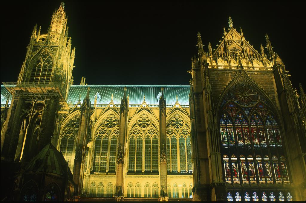 Metz, illuminierte Kathedrale