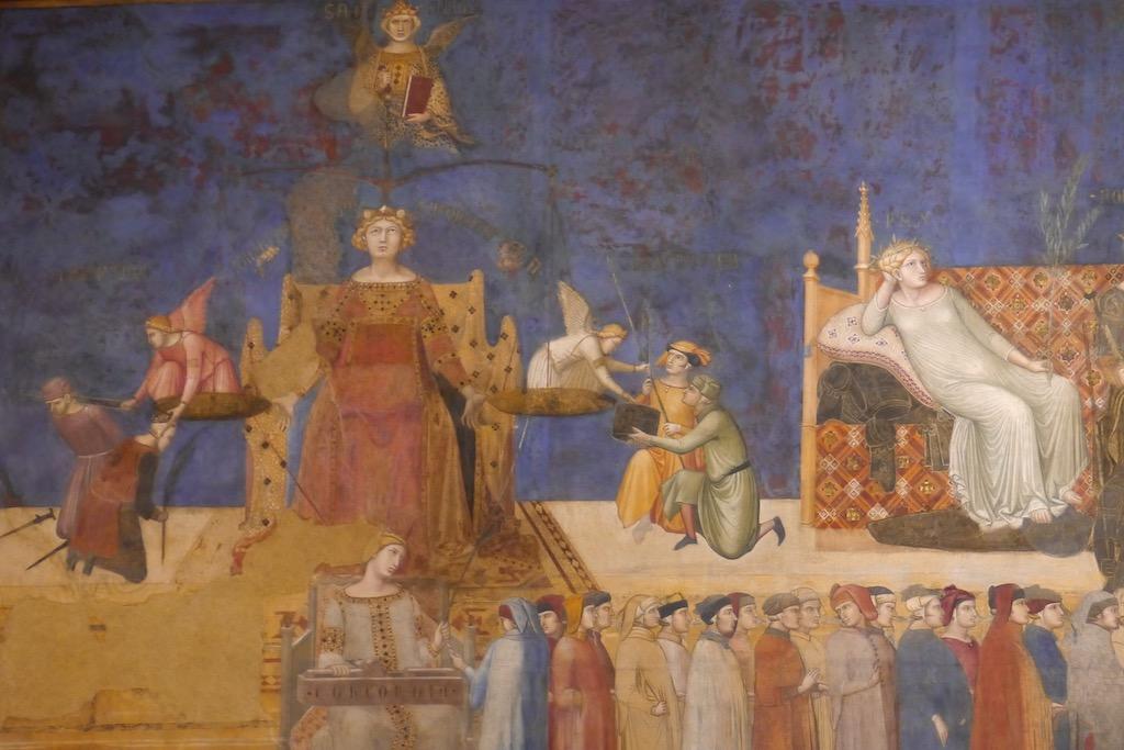 Siena Palazzo Publico Fresko der Gerechtigkeit
