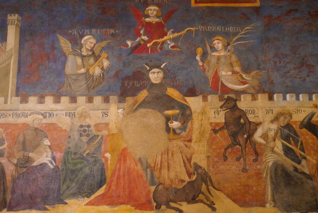 Fresko der Schlechten Regierung von Ambrogio Lorenzetti in Siena