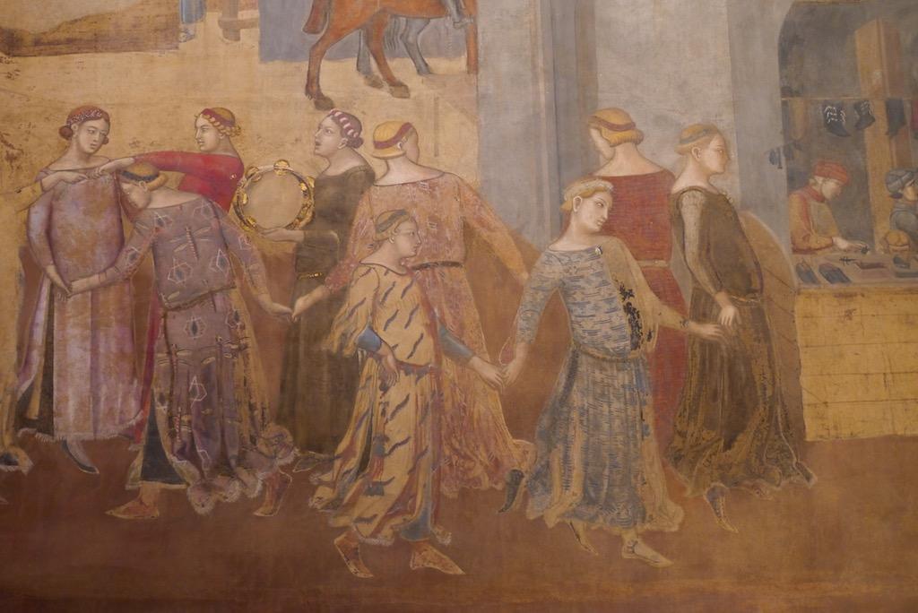 Siena Fresko von Ambrogio Lorenzetti