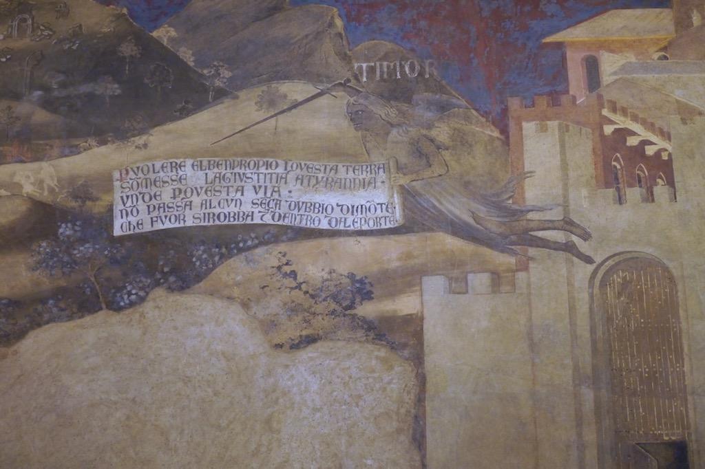 Fresko mit der Angst aus dem Palazzo Publico Siena
