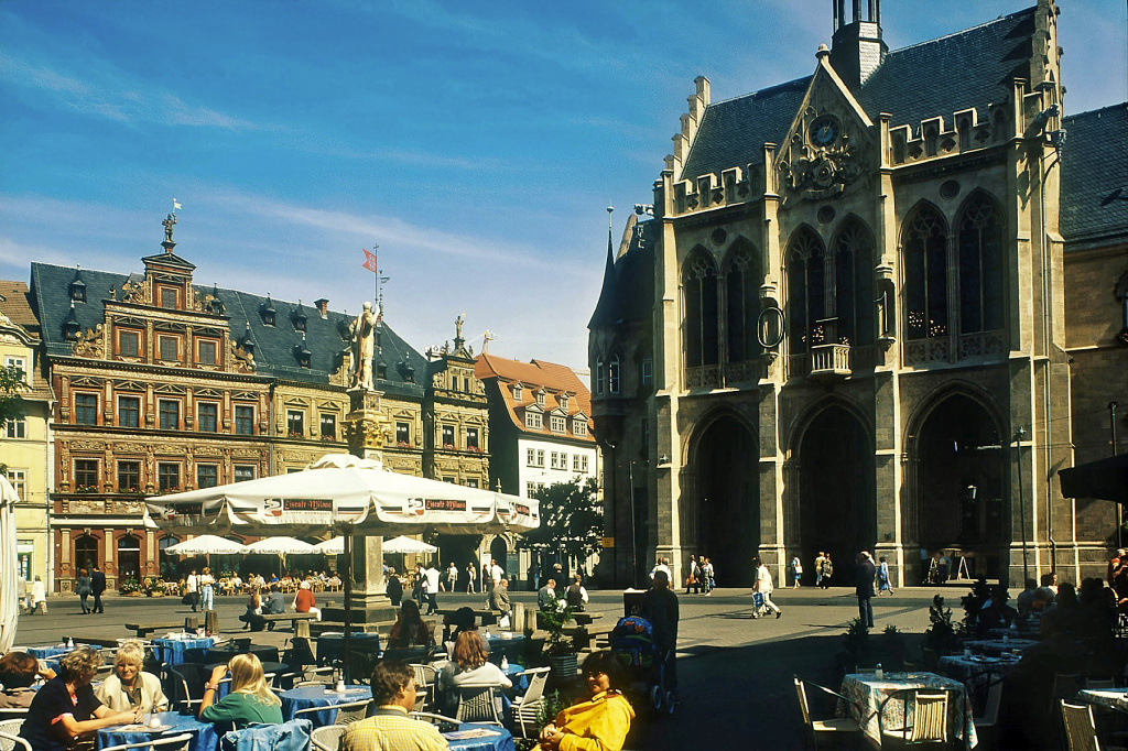 Erfurt, Fischmarkt mit Rathaus