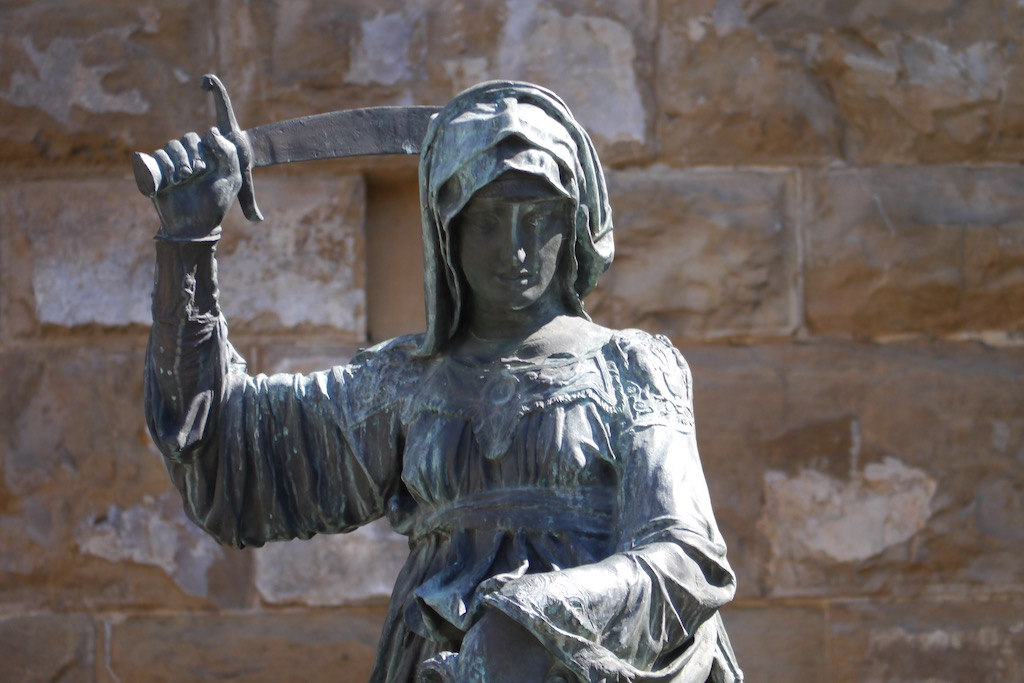 Judith von Donatello vor dem Palazzo Vecchio in Florenz