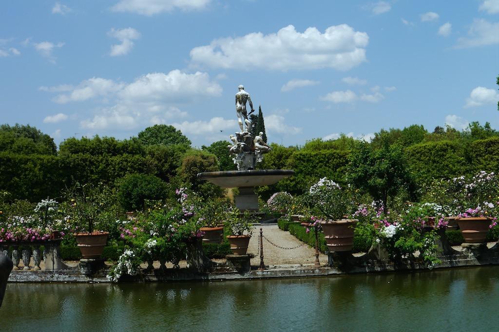 Oceanos Brunnen von Giambologna im Giardino Boboli, Florenz Oltrarno