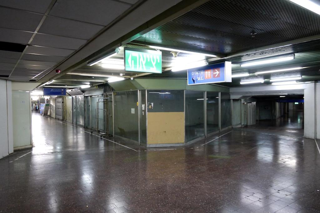Tel Aviv Central Bus Station.