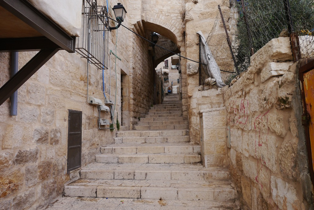 Treppe in Bethlem auf dem Weg nach Jericho.