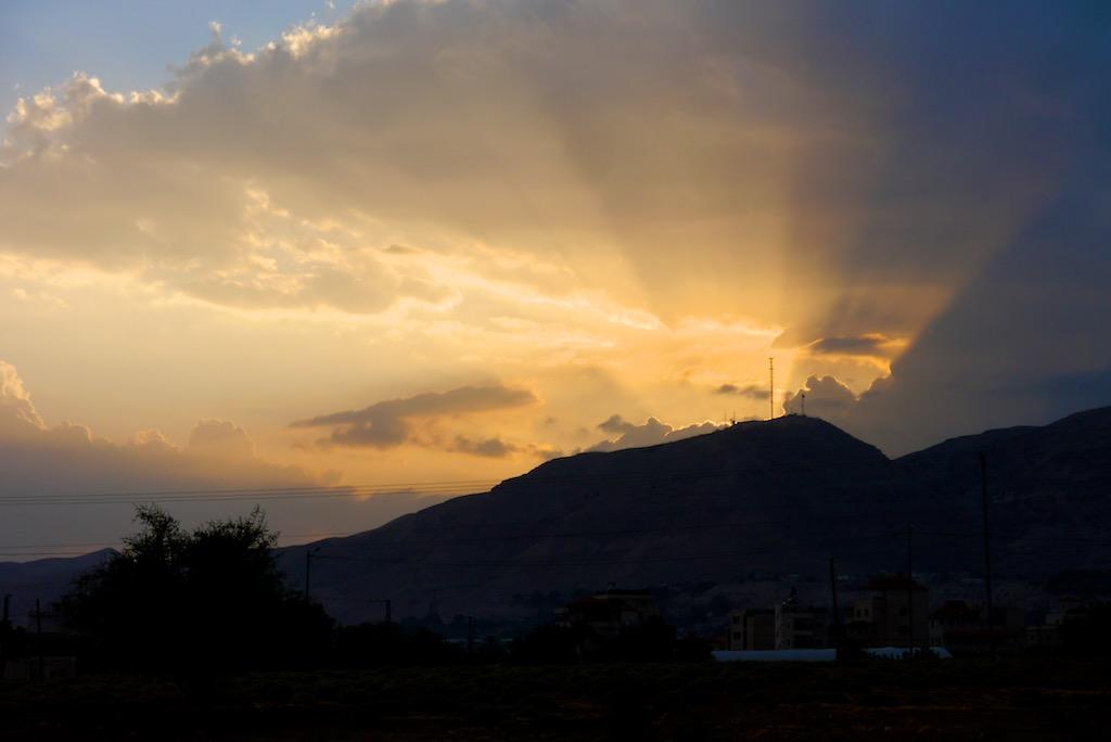 Sonnenuntergang in Jericho.