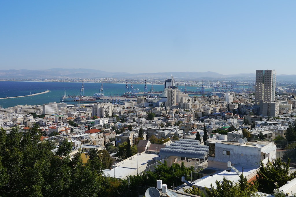 Blick auf die Bucht von Haifa