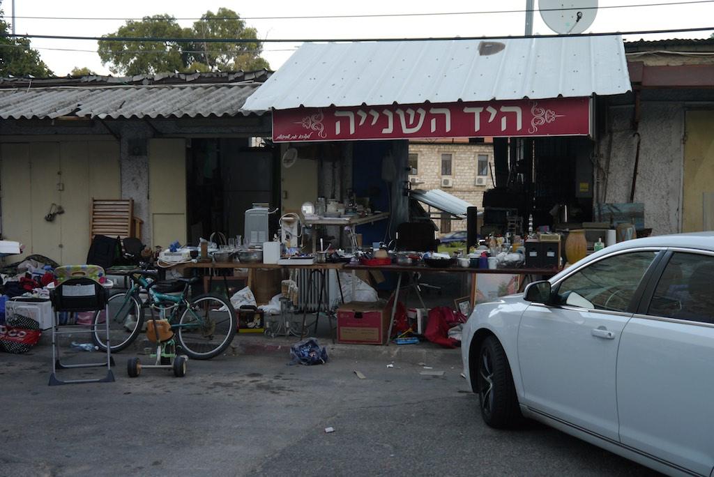 Flohmarkt in der Kibuts Galuyot Street