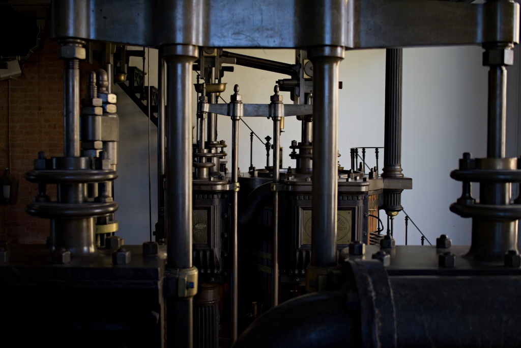 Die Pumpen pumpten das Wasser von Lissabon.