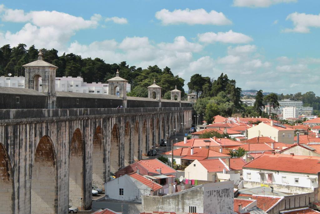 Das Aquädukt von Lissabon.