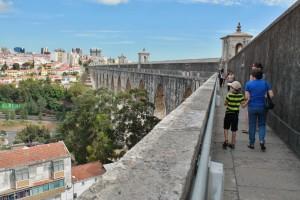 Aquädukt der Wasserleitung von Lissabon.