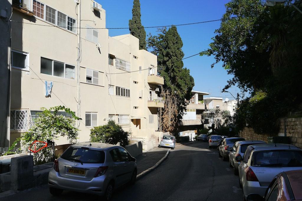 Hillel Street im Hadar Viertel von Haifa