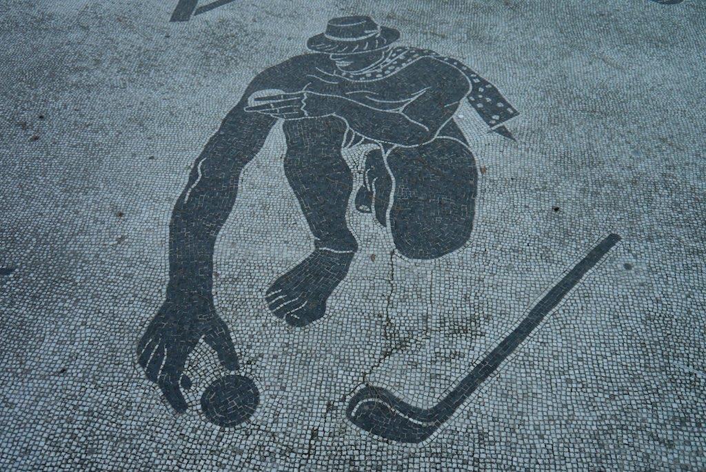Rom Foro Italico Mosaik auf der Piazze del'Impero
