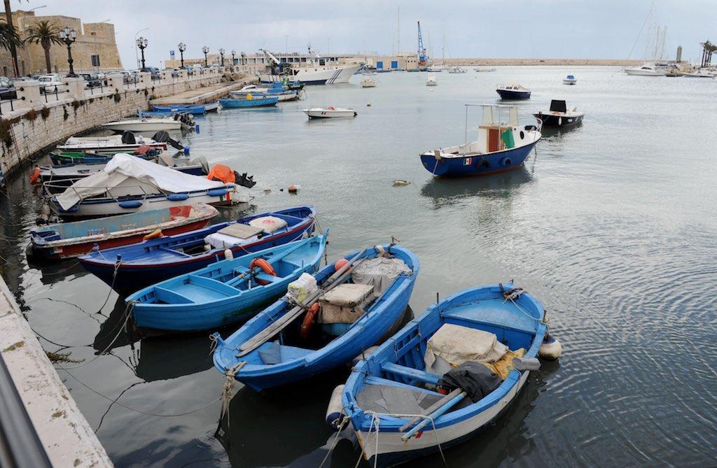 Der Fischereihafen von Bari