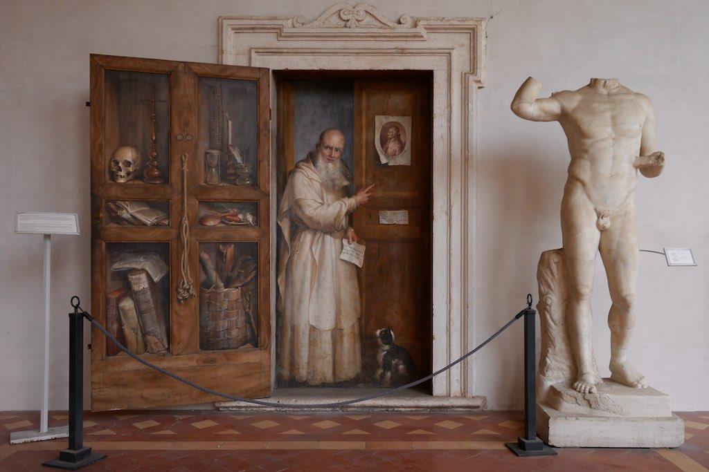 Wandmalerei aus dem Karthäuserklöster in den Diokletians Thermen in Rom