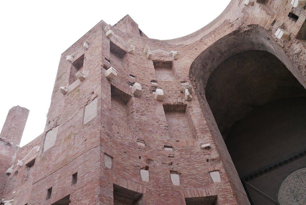Diokletians Thermen, Rom eine Ziegelmauer