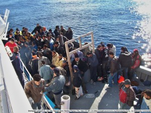 Flüchtlinge in Lampedusa, 07.01.2006