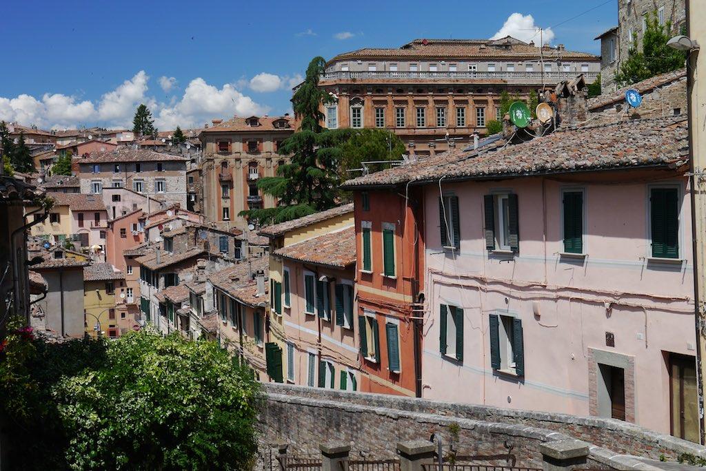 Die Via dell Acquedotto in Perugia