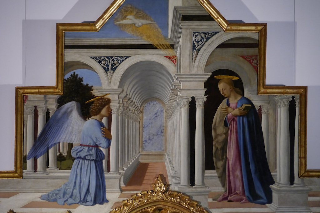 Piero della Francesca, Verkündigung an Maria.