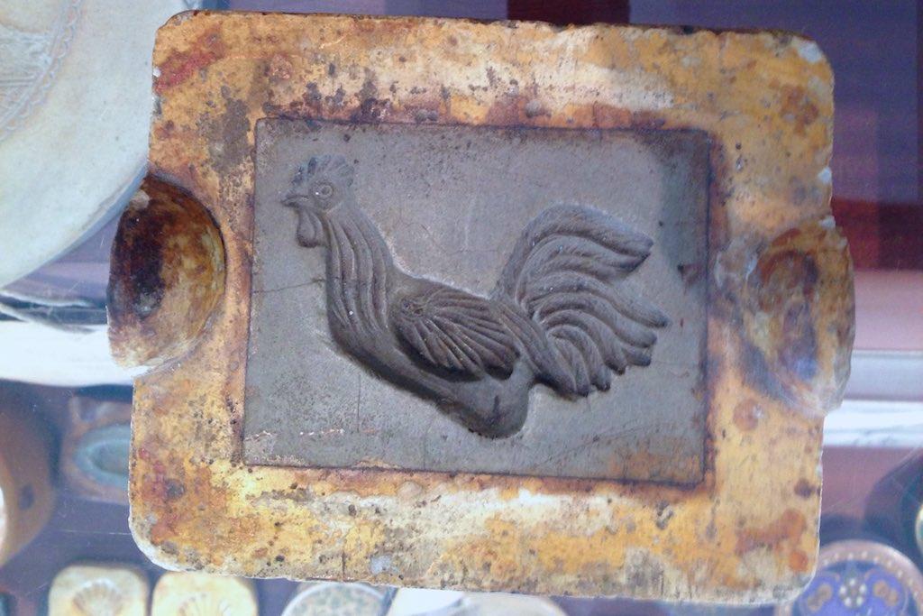 Marzipan-Form in Gestalt eines Hahnes aus Tallinn