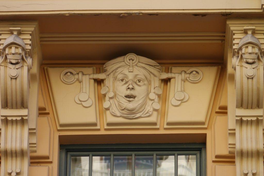 Wohnhaus in der Alberta Iela in Riga.