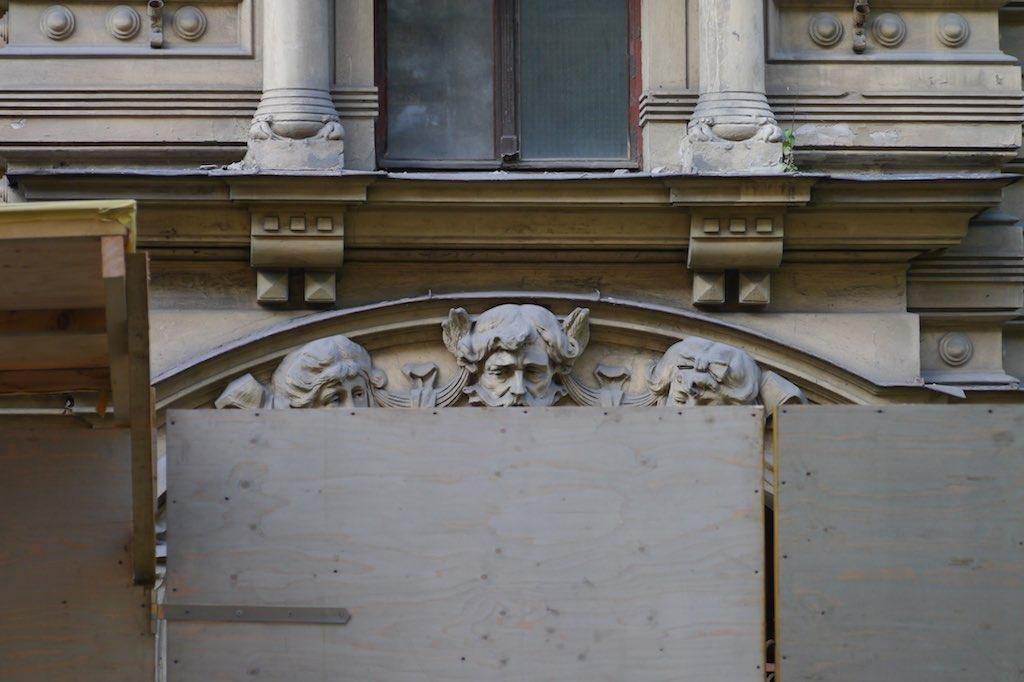 Bauzaun In Riga.
