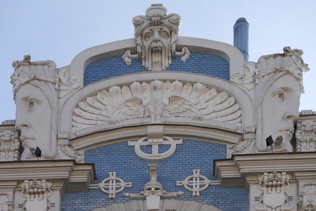 Fassaden Detail eines Jugendstil Haus.