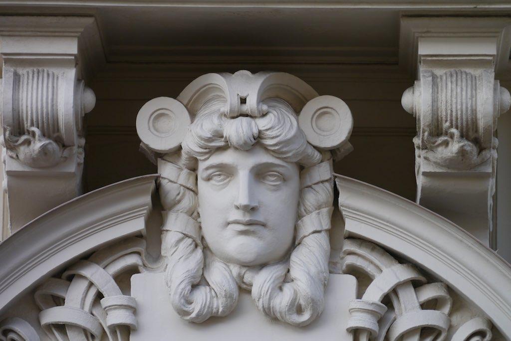 Jugendstil Dekoration in Riga.