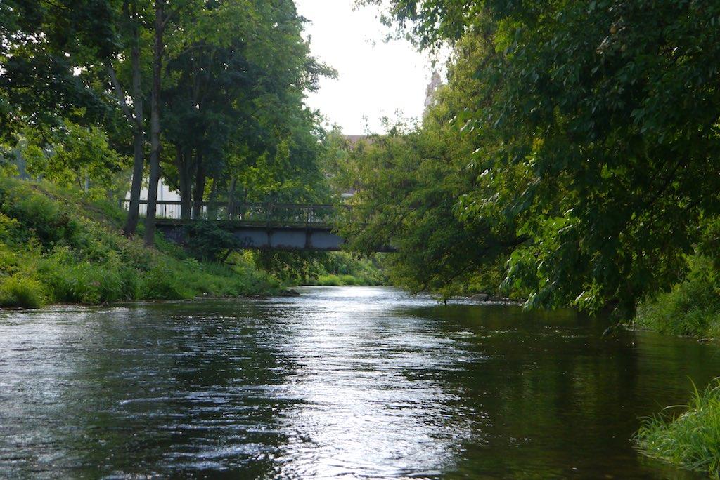 Der Fluss Vilnia in Vilnius