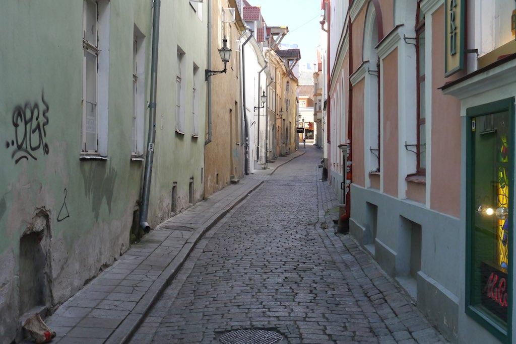 Eine Gasse in Tallinns Altstadt