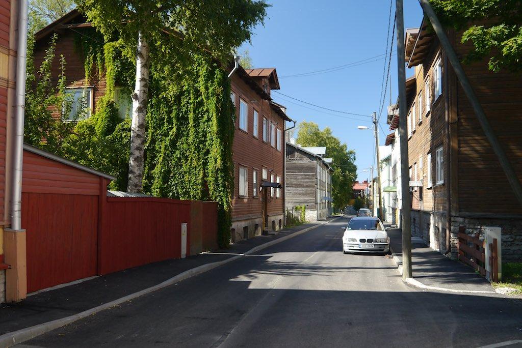 Straße im Kalamaja Viertel von Tallinn