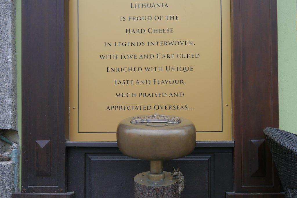 Denkmal für den Džiugas Hartkäse