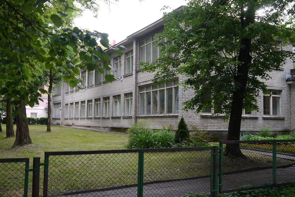 Heute steht ein Kindergarten auf dem ehemligen Grundstück der Synagoge von Vilnius