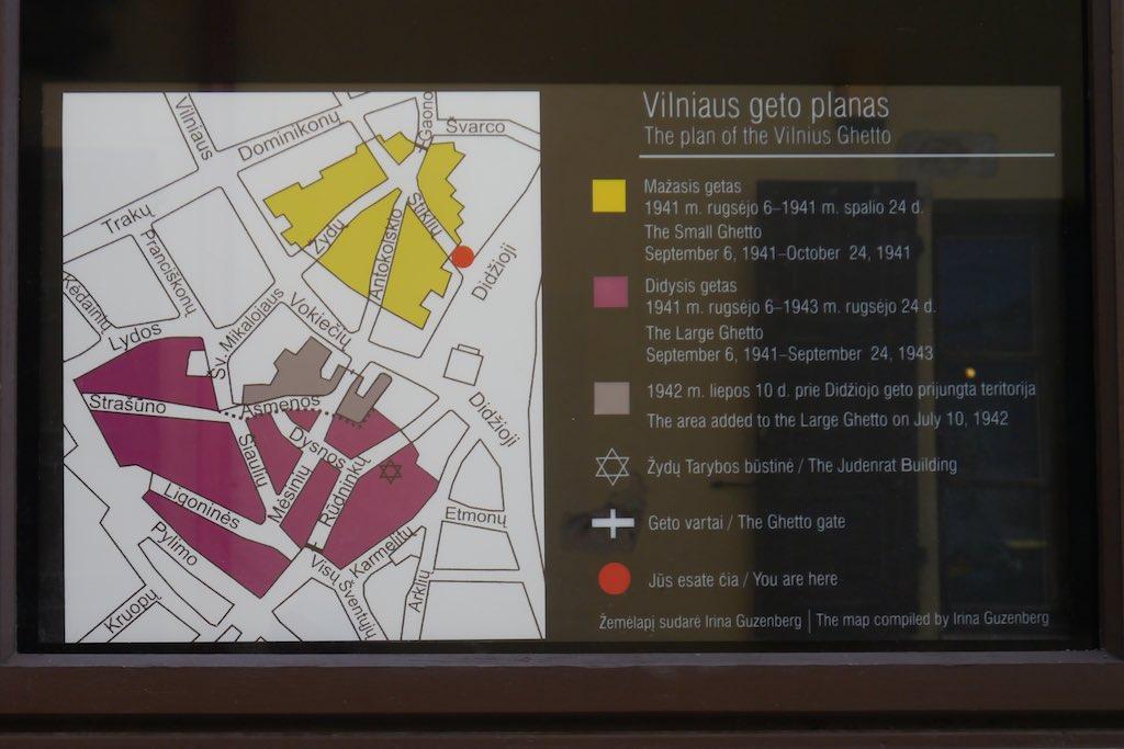 Karte des Ghettos von Vilnius