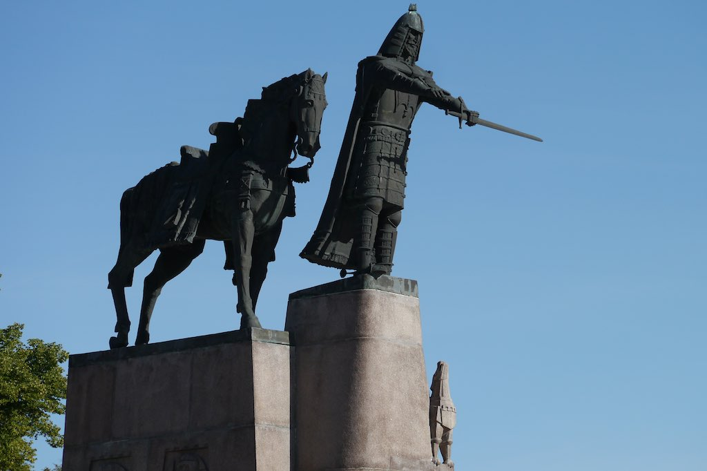 Denkmal für den Stadtgründe rvon Vilnius: Gediminas