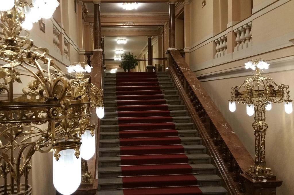 Treppenhaus im Theater von Pilsen.