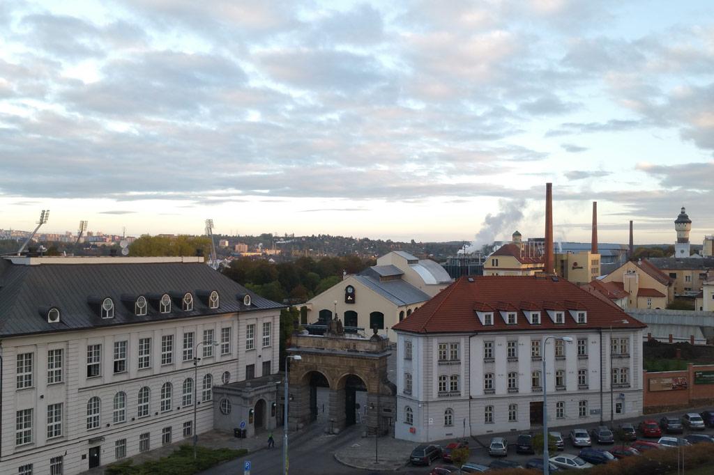 Stadtpanorama von Pilsen.