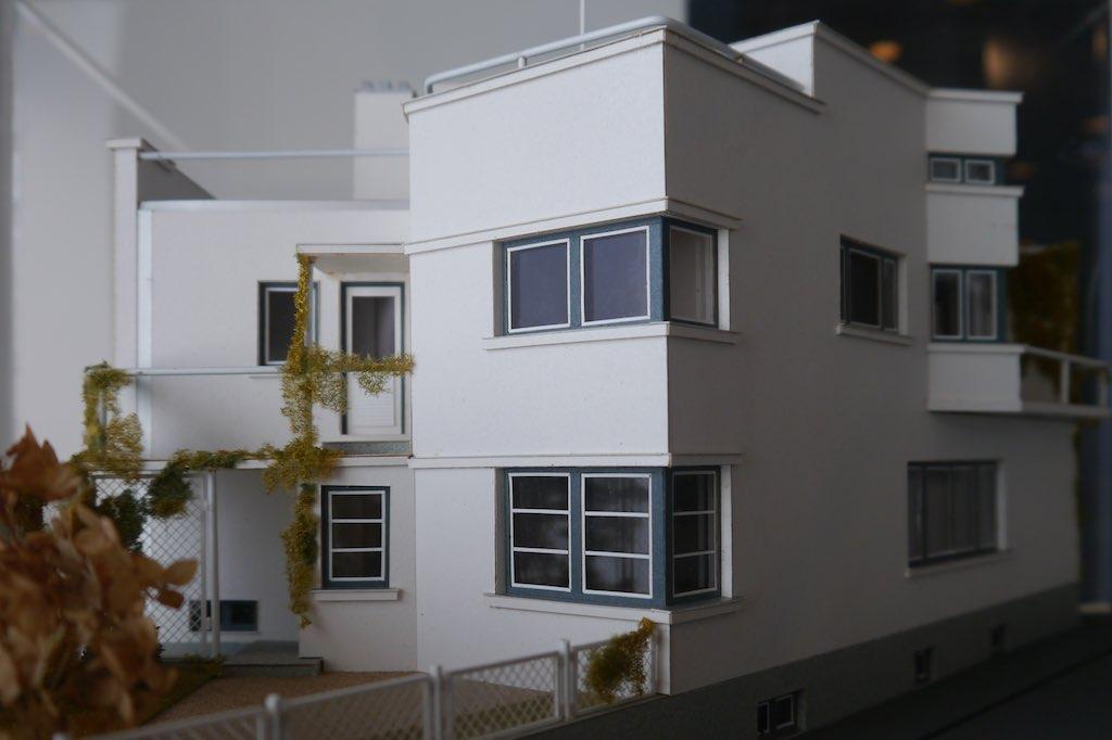 Modell des Wohnhauses des Architekten Olev Siinmaa in Pärnu.