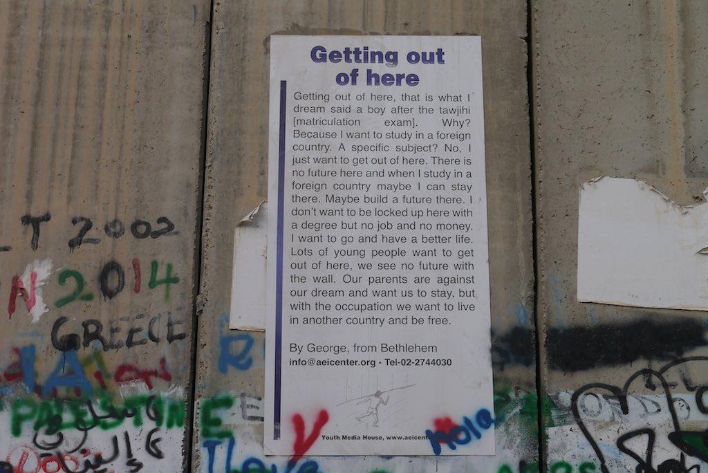 Die israelische Speeranlage zwischen dem Westjordanland und Israel.