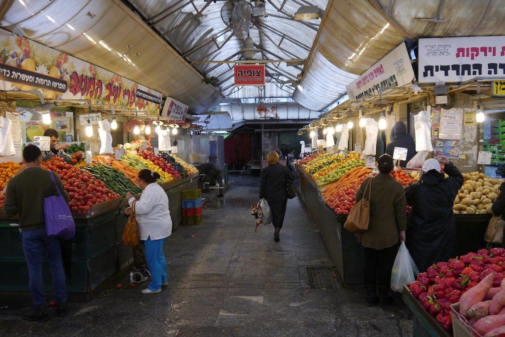 Gemüse Einkauf in Jerusalem.
