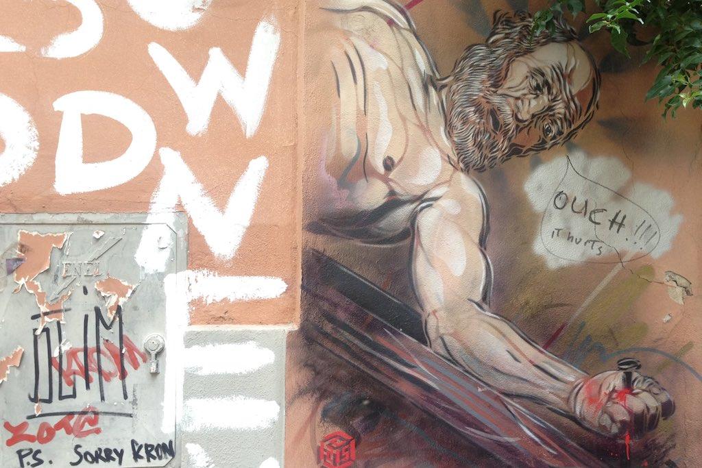 Streetart im Monti Viertel in Rom