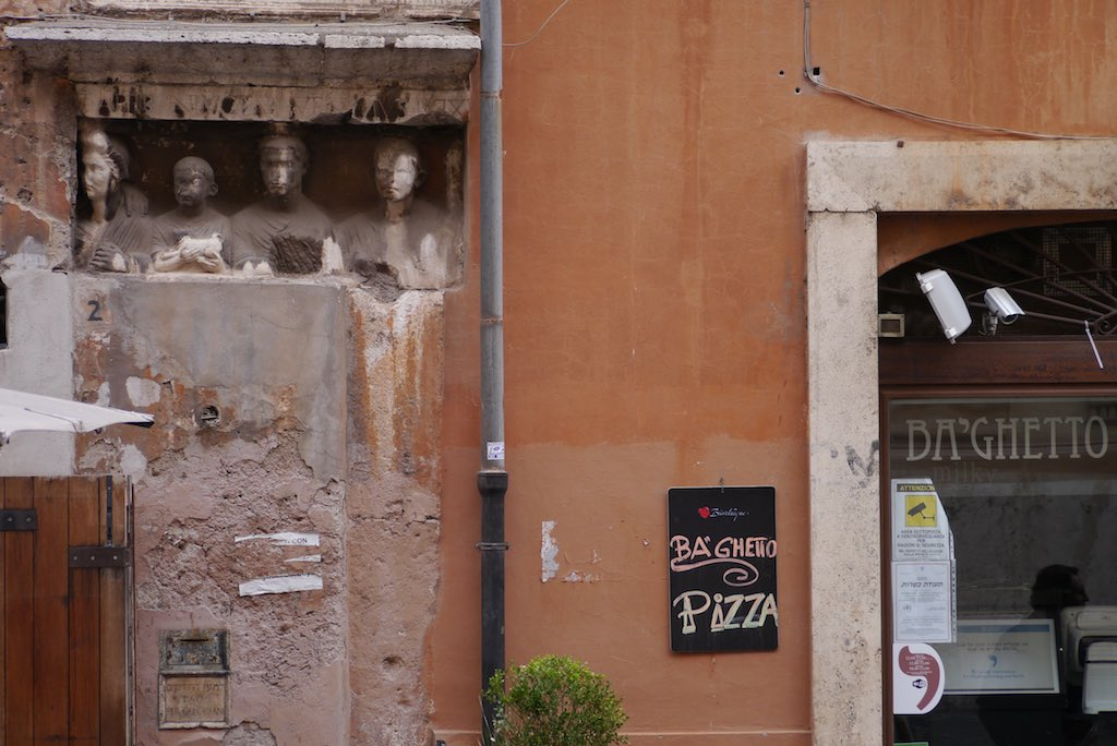 Pizzeria im Ghetto von Rom am Kapitol.
