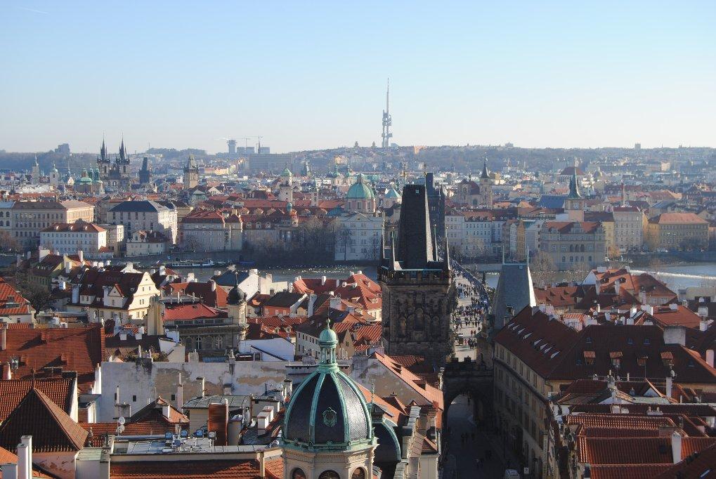 Prag-Stadtpanorama-von-Nikolauskirche