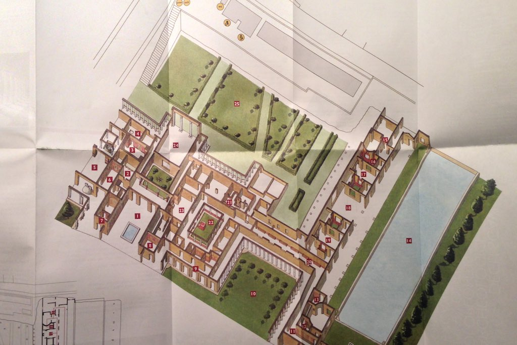 Plan der Villa Oplontis